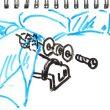 TOYz BAR☆ミニ四駆、バックブレーダー(ポリカボディ)。ボディキャッチ無しでMSシャーシに固定。