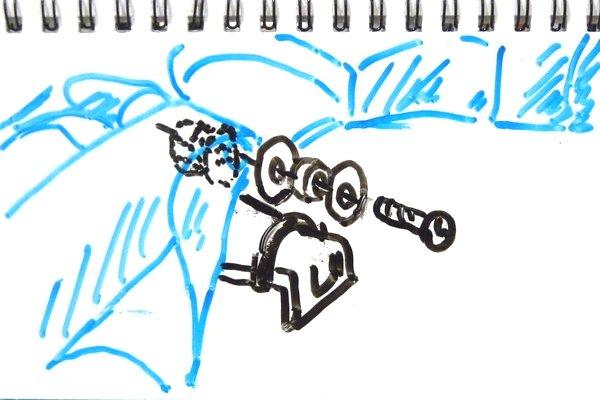 バックブレーダー(ポリカボディ)をボディキャッチ無しでMSシャーシに取り付ける方法を考えてみる。
