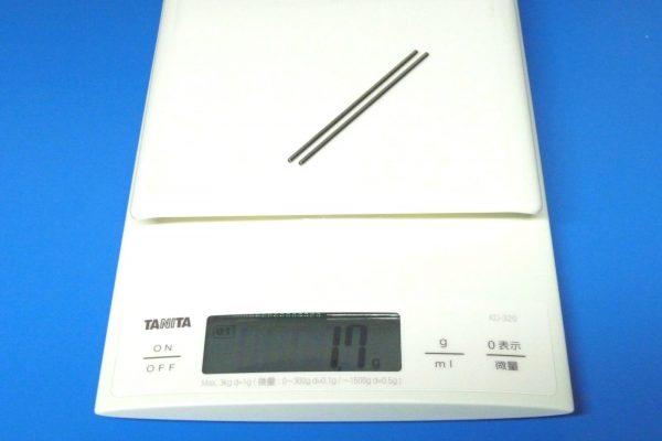 TOYz BAR☆ミニ四駆・15297 72mm中空ステンレスシャフト。重量測定。