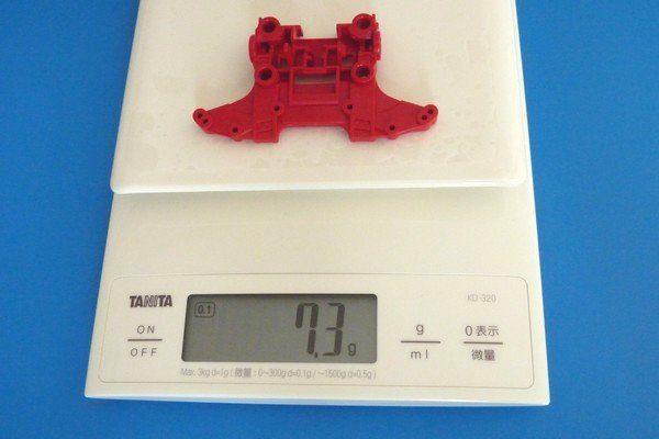 TOYz BAR☆ミニ四駆。MSシャーシ・フロントユニット。N-04重量測定。