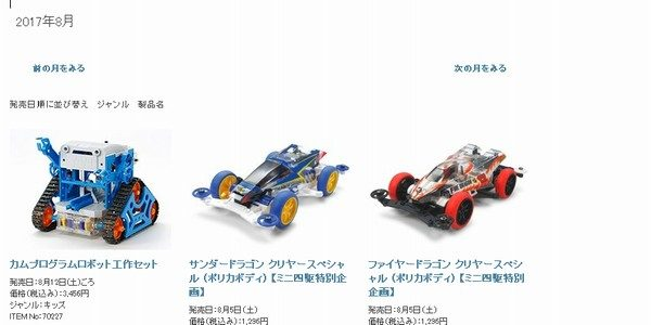 TOYz BAR☆タミヤ公式サイトのリニューアルで過去の新商品一覧が増えた?