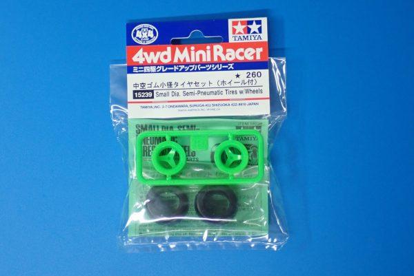 TOYz BAR☆ミニ四駆GUP 15239 中空ゴム小径タイヤセット(ホイール付)。パッケージ表側写真。