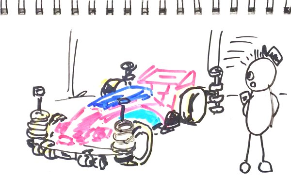 ミニ四駆、2018年特別ルールで、ローラーの個数『6』を『制限無し』に変更。回転するマスダンパーの取付け位置も『制限無し』。