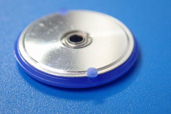 TOYz BAR☆ミニ四駆GUP 15426 19mmプラリング付アルミベアリングローラー(ディッシュタイプ)。プラリングのでっぱり。