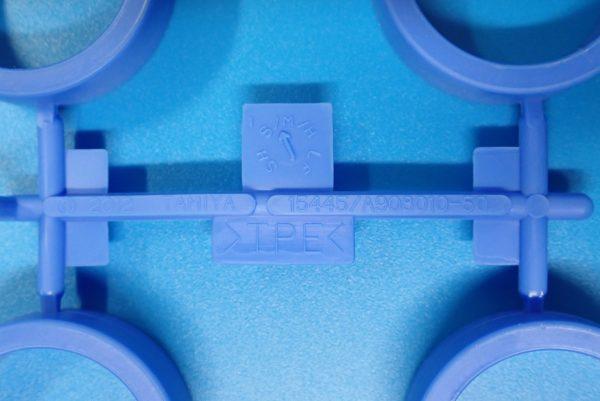 TOYz BAR☆ミニ四駆GUP 95369 ハード大径ローハイトタイヤ&カーボン強化ホイール。ハード大径ローハイトタイヤ(ブルー)。