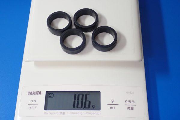TOYz BAR☆ミニ四駆GUP 95369 ハード大径ローハイトタイヤ&カーボン強化ホイール。ハード大径ローハイトタイヤ(ブルー)。ノーマルタイヤの重量測定。