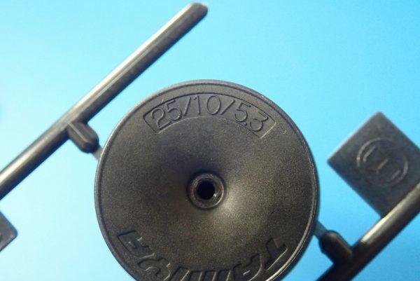 TOYz BAR☆ミニ四駆GUP 95369 ハード大径ローハイトタイヤ&カーボン強化ホイール。大径カーボン強化ホイール(ディッシュ)。詳細写真。