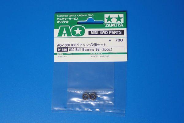 TOYz BAR☆ミニ四駆GUP 94386 AO-1008 830ベアリング2個セット。パッケージ表側詳細写真。