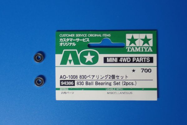 TOYz BAR☆ミニ四駆GUP 94386 AO-1008 830ベアリング2個セット。内容物詳細写真。