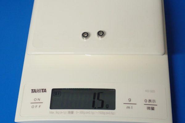 TOYz BAR☆ミニ四駆GUP 94386 AO-1008 830ベアリング2個セット。830ベアリングの重さ測定。