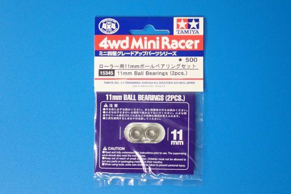 TOYz BAR☆ミニ四駆GUP 15345 ローラー用11mmボールベアリングセット。パッケージ表側写真。