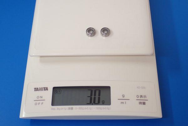 TOYz BAR☆ミニ四駆GUP 15345 ローラー用11mmボールベアリングセット。重さ測定。
