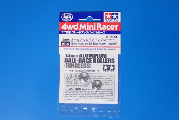 RACE ROLLERS Tamiya 15437 New RINGLESS Mini 4wd 13mm ALUMINUM BALL