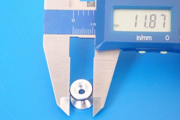 TOYz BAR☆ミニ四駆GUP 15418 ゴムリング付 2段アルミローラーセット (13-12mm)。ローラーサイズ測定。