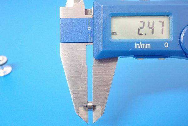 TOYz BAR☆ミニ四駆GUP 15418 ゴムリング付 2段アルミローラーセット (13-12mm)。520ボールベアリング、サイズ測定。