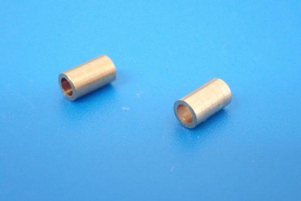 TOYz BAR☆ミニ四駆GUP 15418 ゴムリング付 2段アルミローラーセット (13-12mm)。パイプ詳細写真。