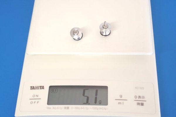 TOYz BAR☆ミニ四駆GUP 15418 ゴムリング付 2段アルミローラーセット (13-12mm)。重さ測定。