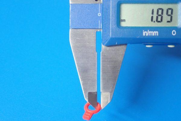 TOYz BAR☆ミニ四駆GUP 95393 ラバーボディキャッチ(ブルー・レッド)。サイズ測定。