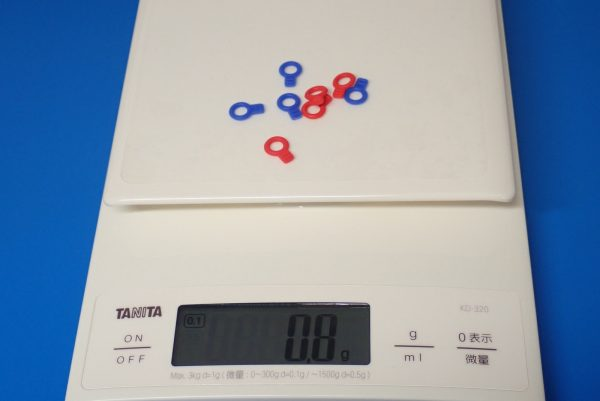 TOYz BAR☆ミニ四駆GUP 95393 ラバーボディキャッチ(ブルー・レッド)。重量測定。