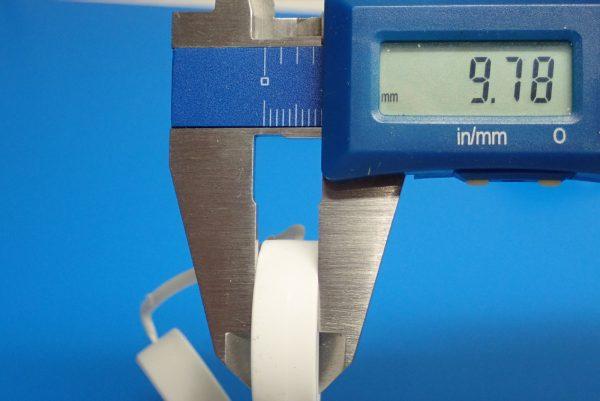 Yz BAR☆ミニ四駆GUP 95371 ハード大径ローハイトタイヤ&カーボン強化6本スポークホイル。タイヤ太さ測定。