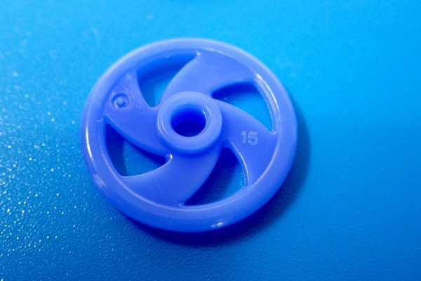 TOYz BAR☆95391 低摩擦プラローラーセット (ブルー&ライトグリーン)。19mm低摩擦プラローラー(ブルー)詳細写真。