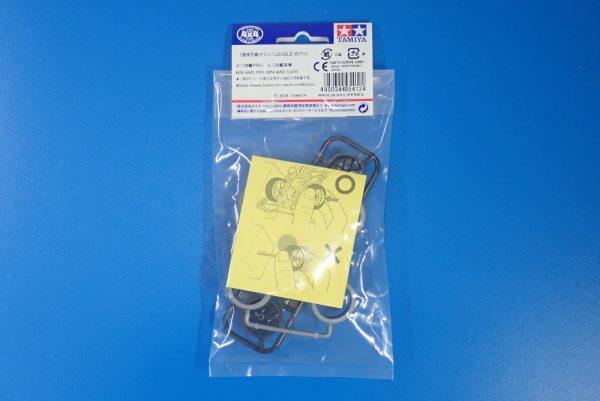 TOYz BAR☆95412 ハードローハイトタイヤ(シルバー)&カーボン強化ホイール(Yスポーク)。パッケージ裏側写真。