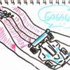 ミニ四駆にアンダーガードを付けると確かにコースに引っかかっても戻りやすくなる。ネジ穴選択、結構むずかしいな。